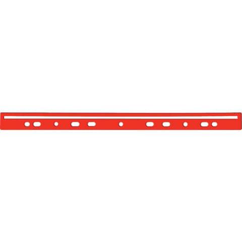 Dorso a foratura universale per stampati Q-Connect 30 cm rosso scatola da 100 - KF02284