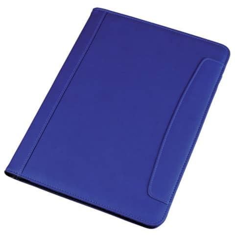 Cartella portablocco Alassio MESSINA in ecopelle 24x2,5x33 cm A4 blu 30082