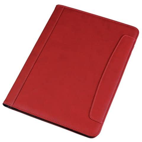 Cartella portablocco Alassio MESSINA in ecopelle 24x2,5x33 cm A4 rosso 30083
