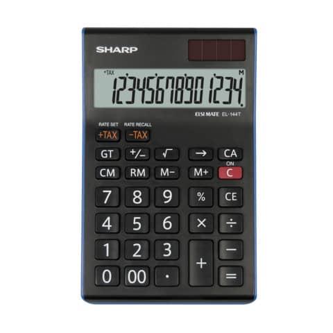 Tischrechner 12-stell. schwarz/weiß SHARP SH-EL124TWH Produktbild Einzelbild 1 XL