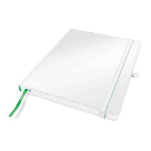 Taccuino a quadretti formato iPad - 80 fogli Leitz Complete bianco 44730001