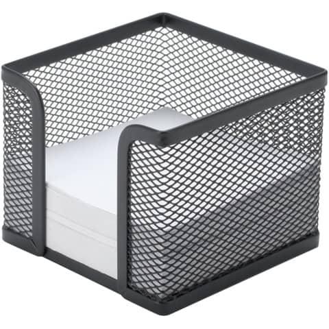 Portamemo in metallo Q-Connect 9,5x8,0x9,5 cm nero KF00878