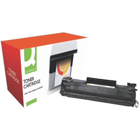 Toner Q-Connect compatibile con HP CB436A nero KF14573