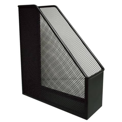 Portariviste in metallo Q-Connect 9,5x29,5x25,8 cm nero KF00862