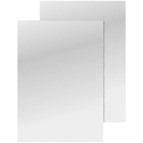 Copertina per rilegatura Q-Connect A4 250 g/m² bianco lucido conf. 100 pezzi - KF00498