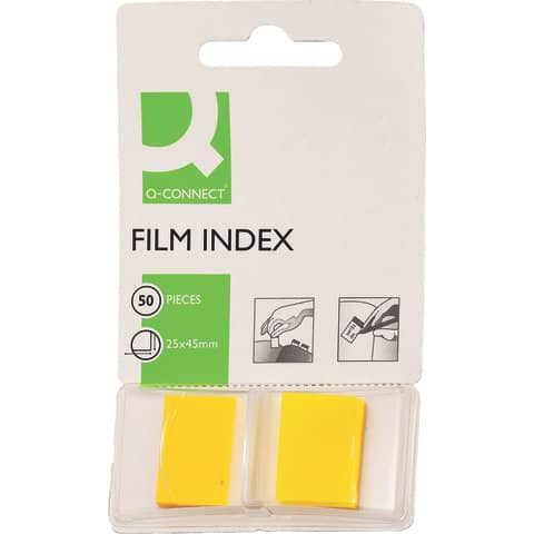 Segnapagina Q-Connect 25x43 mm giallo  blocchetto da 50 - KF03634