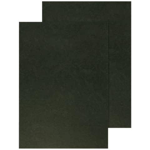 Copertina per rilegatura Q-Connect A4 250 g/m² nero goffrato conf. 100 pezzi - KF00501