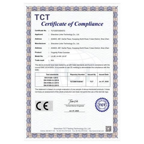 Saturimetro da dito - Certif. CE - risultati in 8 secondi - blu/bianco LK87 Immagine del prodotto Sicherheitsdatenblatt XL