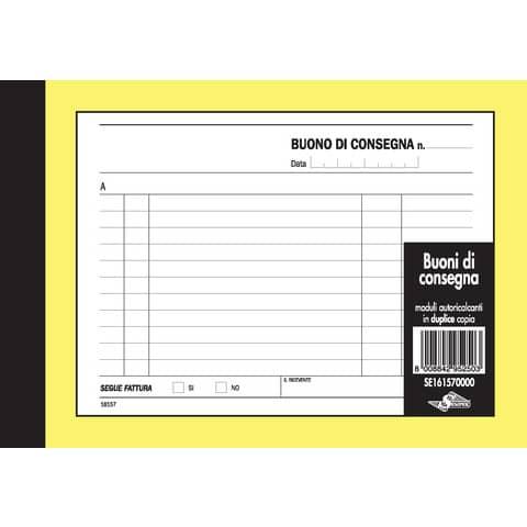 Buoni di consegna trasporti Semper blocco di 50/50 copie autoricalcanti 11,5x16,5 cm - SE161570000