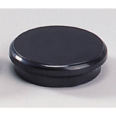 Magneti Dahle rotondi Ø 24 mm nero  conf. 10 pezzi - R955249x10