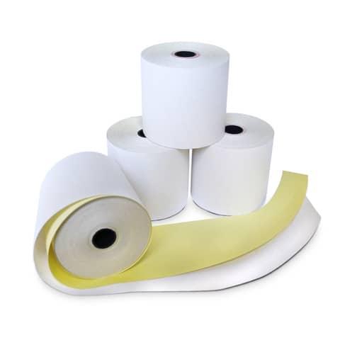Rotoli POS Rotolificio Pugliese carta chimica autocopiante 57 mm x 15 m foro 12 mm  conf. da 5 - CC10