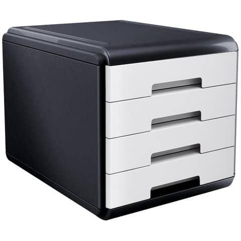 Cassettiera 4 cassetti ARDA Mydesk polistirolo e materiale infrangibile grigio/bianco - 18P4PB