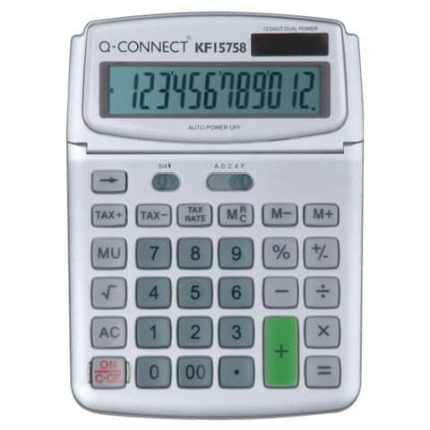 Calcolatrice solare da tavolo Q-Connect grande 12 cifre KF15758