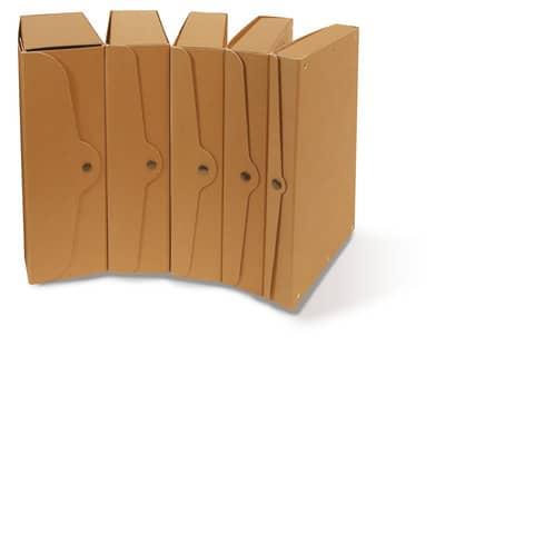 Scatola portaprogetti con bottone in cartone EURO-CART 35x25 cm dorso 15 cm FMC XCPECO15AV