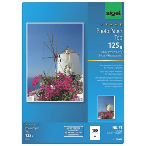 Inkjet Fotopapier A4 125g Produktbild