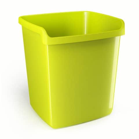 Cestino impilabile ARDA My desk 15 litri polipropilene verde rettangolare 8116V