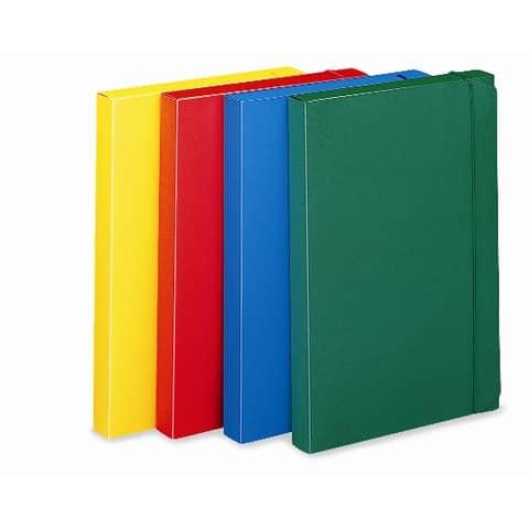 Cartella portaprogetti con elastico LEONARDI 24x35 cm dorso 3 cm giallo - U140GI