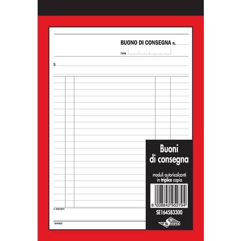 Buoni di consegna trasporti Semper blocco di 33/33/33 copie autoricalcanti 21,5x14,8 cm - SE164583300
