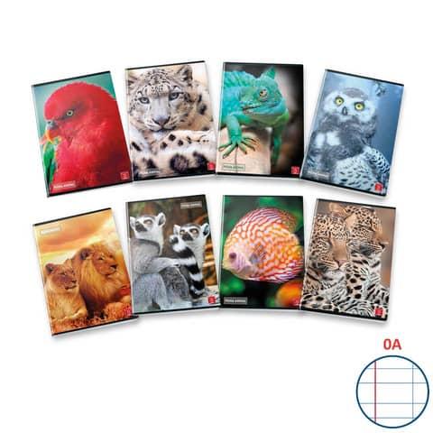 Quaderno 42 fogli PIGNA Animal A4 a righe 0A con margine assortiti 02302830A