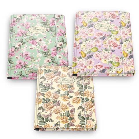 Cartella a 3 lembi PIGNA Nature Flowers con elastico assortiti 00547973L