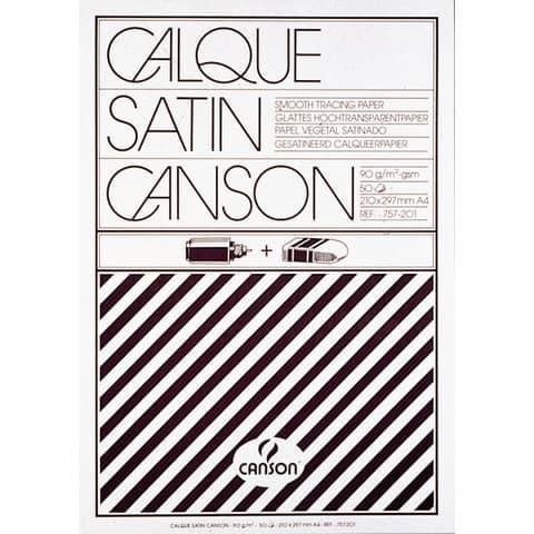 Blocco da disegno Canson carta lucida satinata 50 fogli 90/95 g/m² A4 C200757201