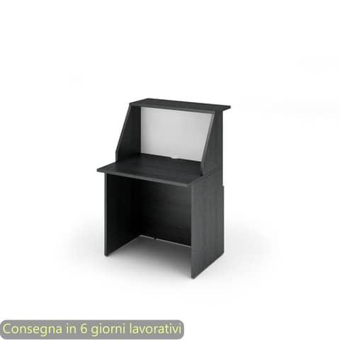 Reception Artexport Musa 80x76x117 cm nero ven. frassino-bianco 2824-B80-83