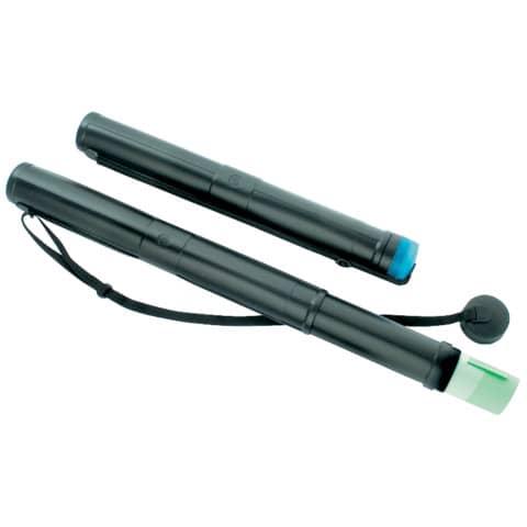 Tubo porta disegni Ø 75 mm TECNOSTYL estensibile a 2 moduli 70-120 cm nero 80