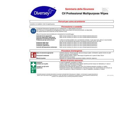 Salviette igienizzanti Cif bianco  conf. 100 pezzi - 101102238 Immagine del prodotto Sicherheitsdatenblatt 2 XL