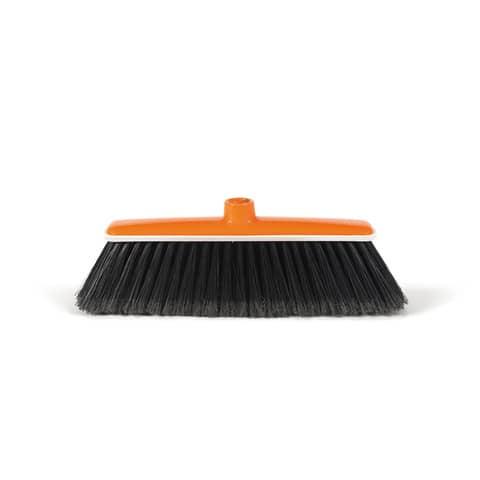 Scopa per interni Molly Perfetto Factory con paracolpi coccia arancio / setole nere - 0050F