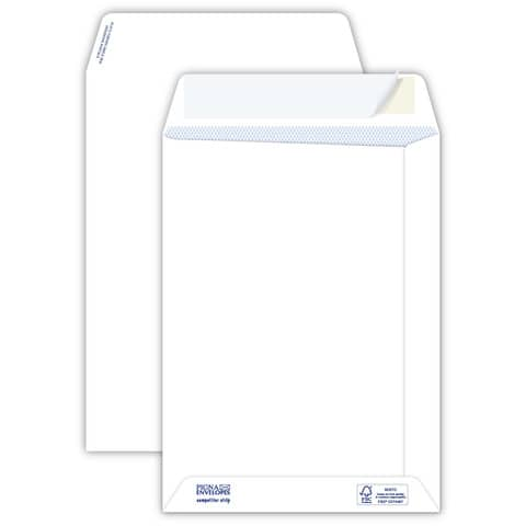 Buste a sacco bianche autoad. removibili Pigna Envelopes Competitor strip 100 g/m² 190x260 mm  conf. 500 - 0029525