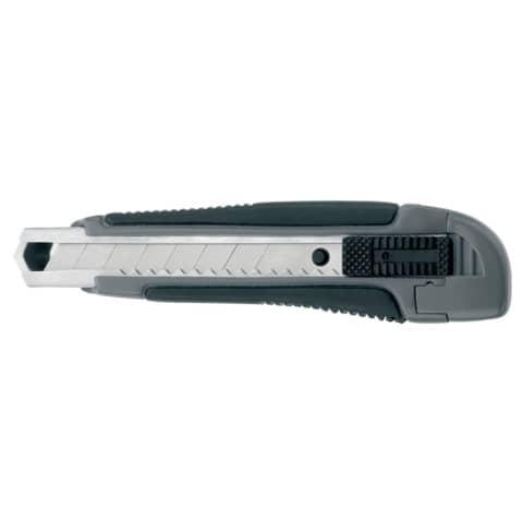 Cutter Westcott Premium larghezza lama 18 mm - guida lama metallo grigio / nero nero  E-84005 00