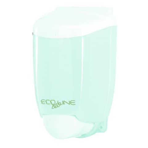 Distributore di sapone liquido 12,5x11,5x21 cm QTS in plastica 1000 ml verde opalino - E-SO/1R-S
