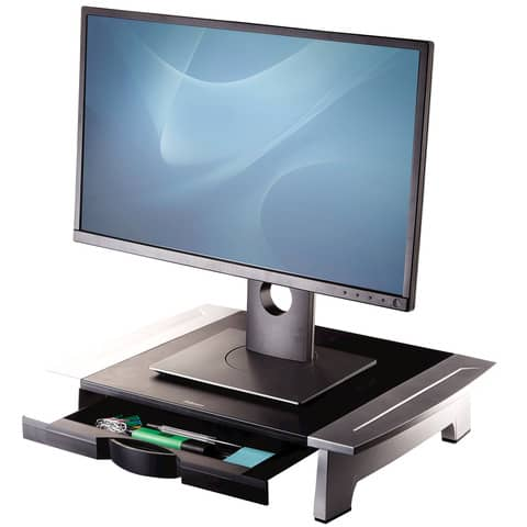 Supporto FELLOWES Office Suites standard per monitor nero/argento 10x50x36,4 cm 8031101