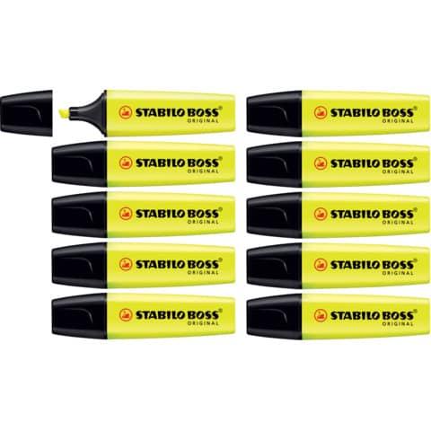 Evidenziatore Stabilo Boss Original 2-5 mm giallo 70/24 Immagine del prodotto Einzelbild 6 XL
