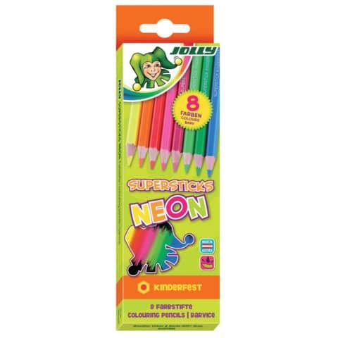 Farbstiftetui 8 Stück NEON Mix Produktbild