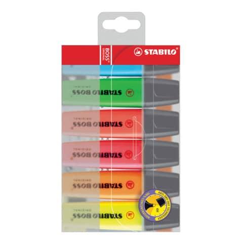 Evidenziatori Stabilo Boss Original 2-5 mm assortiti conf. 6 pezzi - 70/6 Immagine del prodotto Einzelbild 2 XL