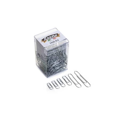 Fermagli Leone filo zincato ritrafilato Gran Mix misure assortite zinco brillante barattolo da 125 g FZB125GMIX