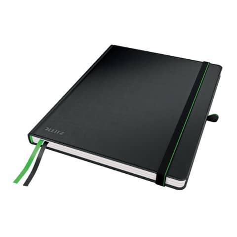 Taccuino a righe formato iPad - 80 fogli Leitz Complete nero 44740095