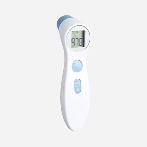 Termometro professionale ad infrarossi distanza di misura 2-3 cm - Certificazione CE - bianco - DET306 Immagine del prodotto