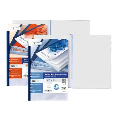Portalistini in PP Sei Rota Uno TI - PP buccia - 24 buste A5 blu 55152407