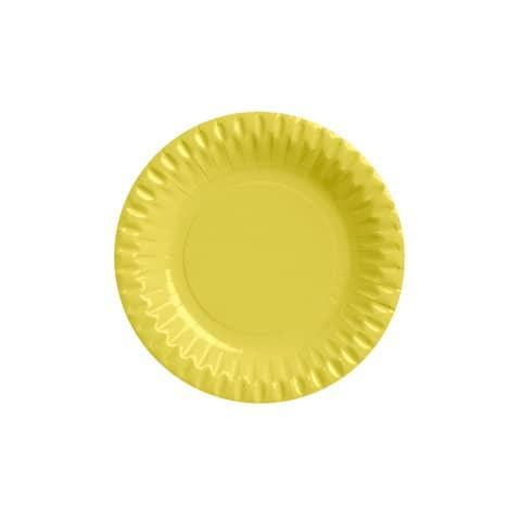 Piatti di carta tondi - diametro 180 mm Dopla giallo conf. 10 pezzi - 32400