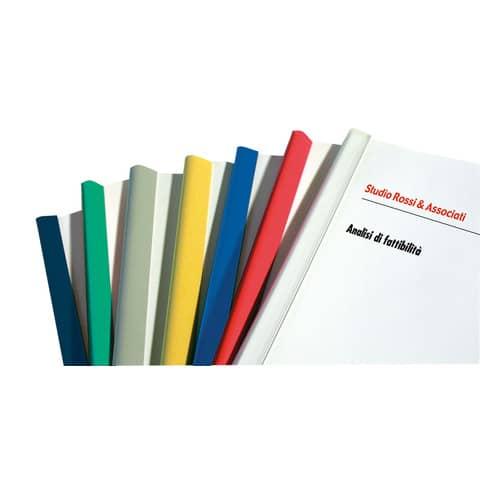 Dorsi plastici FELLOWES per rilegatura senza macchine 29,7cm diam.11mm rosso conf.30 - D111RO
