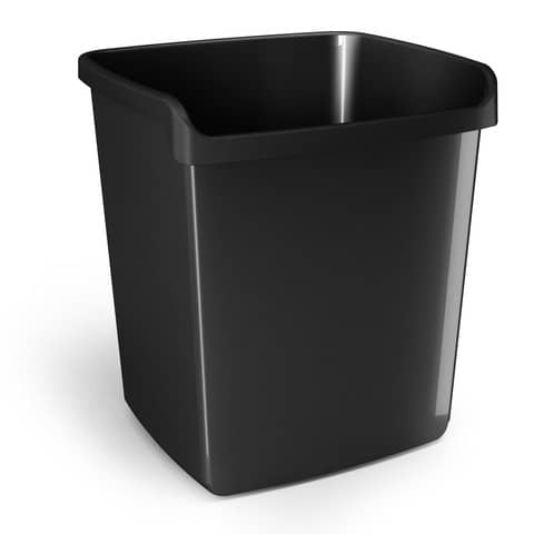 Cestino impilabile ARDA My desk 15 litri polipropilene nero rettangolare 8116N