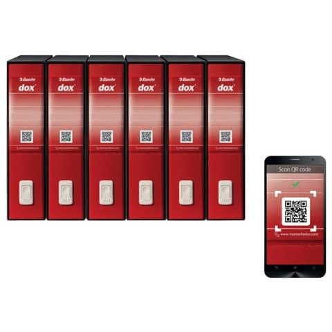 Registratore a leva DOX2 Protocollo 28,5x35 cm - dorso 8 cm rosso D26211 Immagine del prodotto Detaildarstellung XL