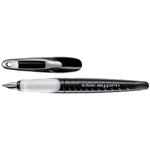 Penna stilografica Herlitz My.pen M bianco/nero 10999746