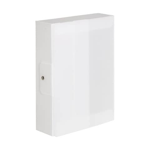 Cartella portaprogetti a 3 lembi DISPACO 25x35 cm polionda cannettato bianco trasparente dorso 8 cm - 3608