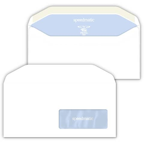 Buste con finestra Pigna Envelopes Speedmatic 80 g/m² 110x230 mm bianco conf. 500 - 0388987