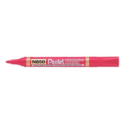 Marcatore permanente Pentel N850 punta conica 4.5 mm rosso N850-BE