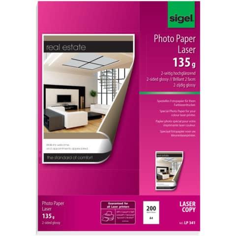 Laser Fotopapier A4 135g Produktbild