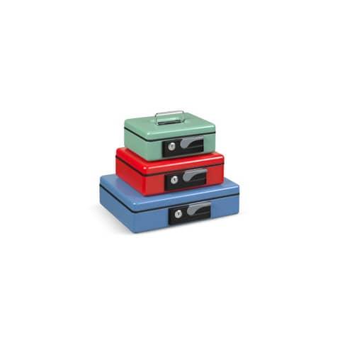 Cassetta portavalori Koala Deluxe 230x185x80 mm in acciaio blu 3414BL